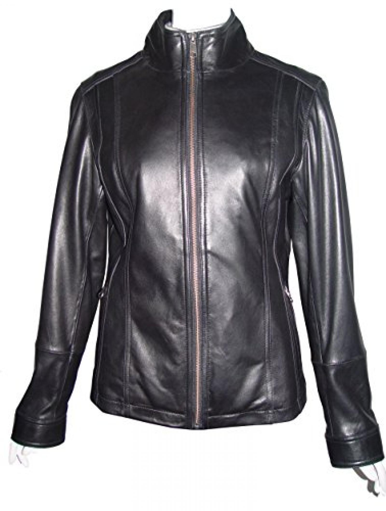 Nettailor Women 4202 Soft Leather New Casual Jacket Zip Front Closure Zip Pocket