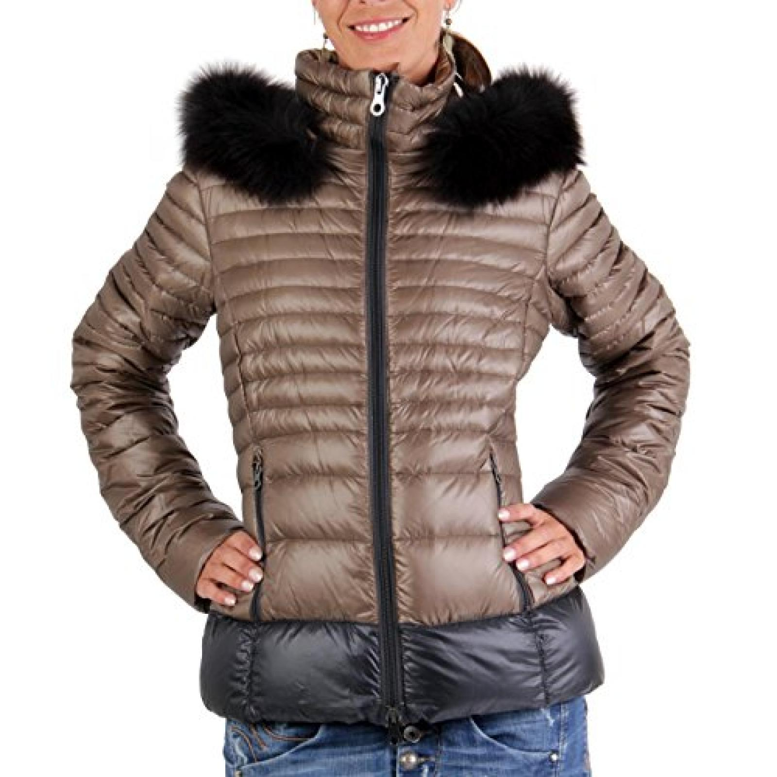 DUVETICA Damen Winter Daunenjacke NYX Brown Gold 3150