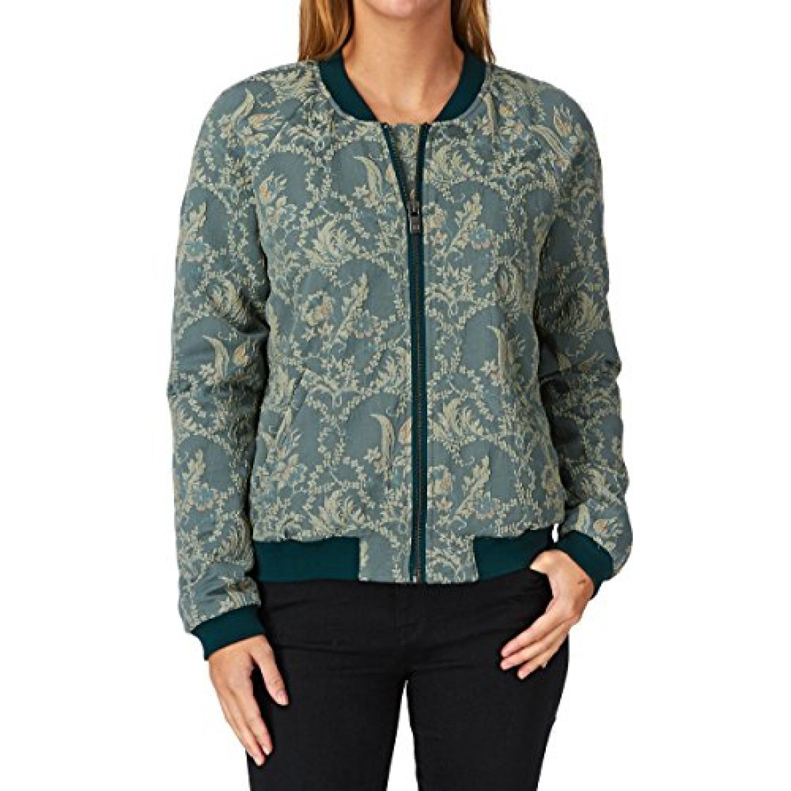 Maison Scotch Oriental Bomber Jacket - Light Mint Orient