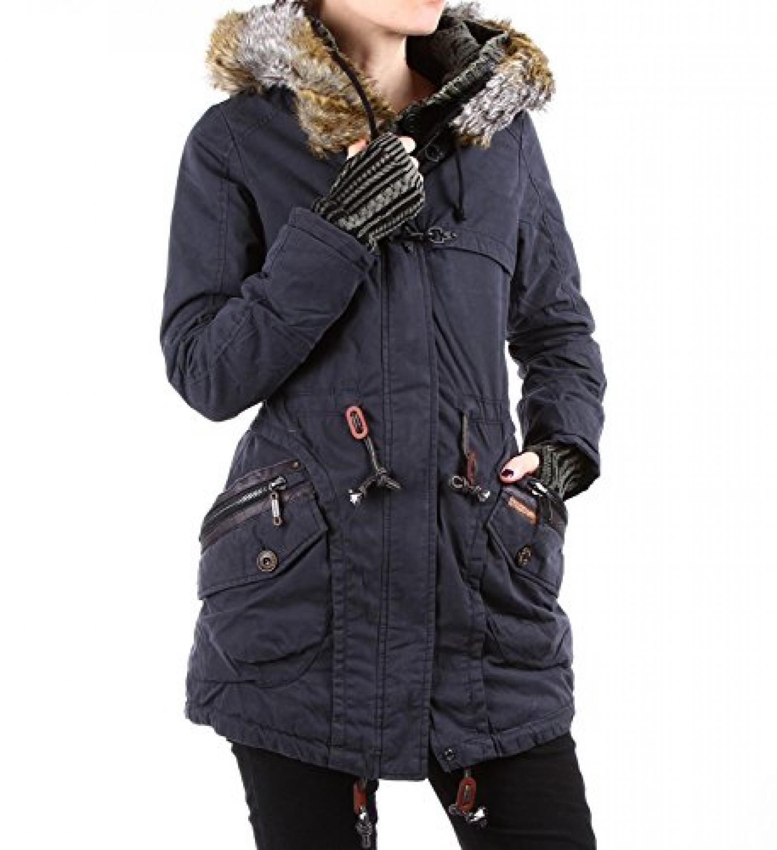 Khujo Damen Polarjacke Grace with Inner Jacket & Cuffs