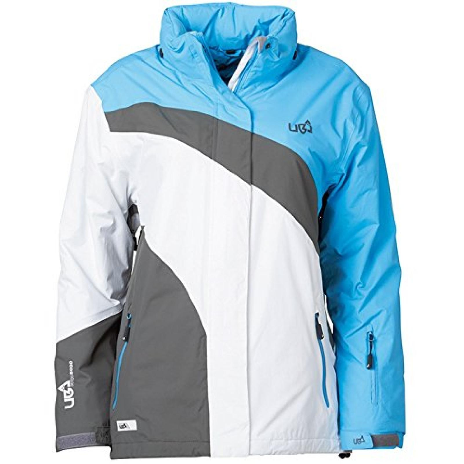 Blau/Grau/Weiß Urban Beach Damen 5000/5000 Tech Jacke Blau/Grau/Weiß