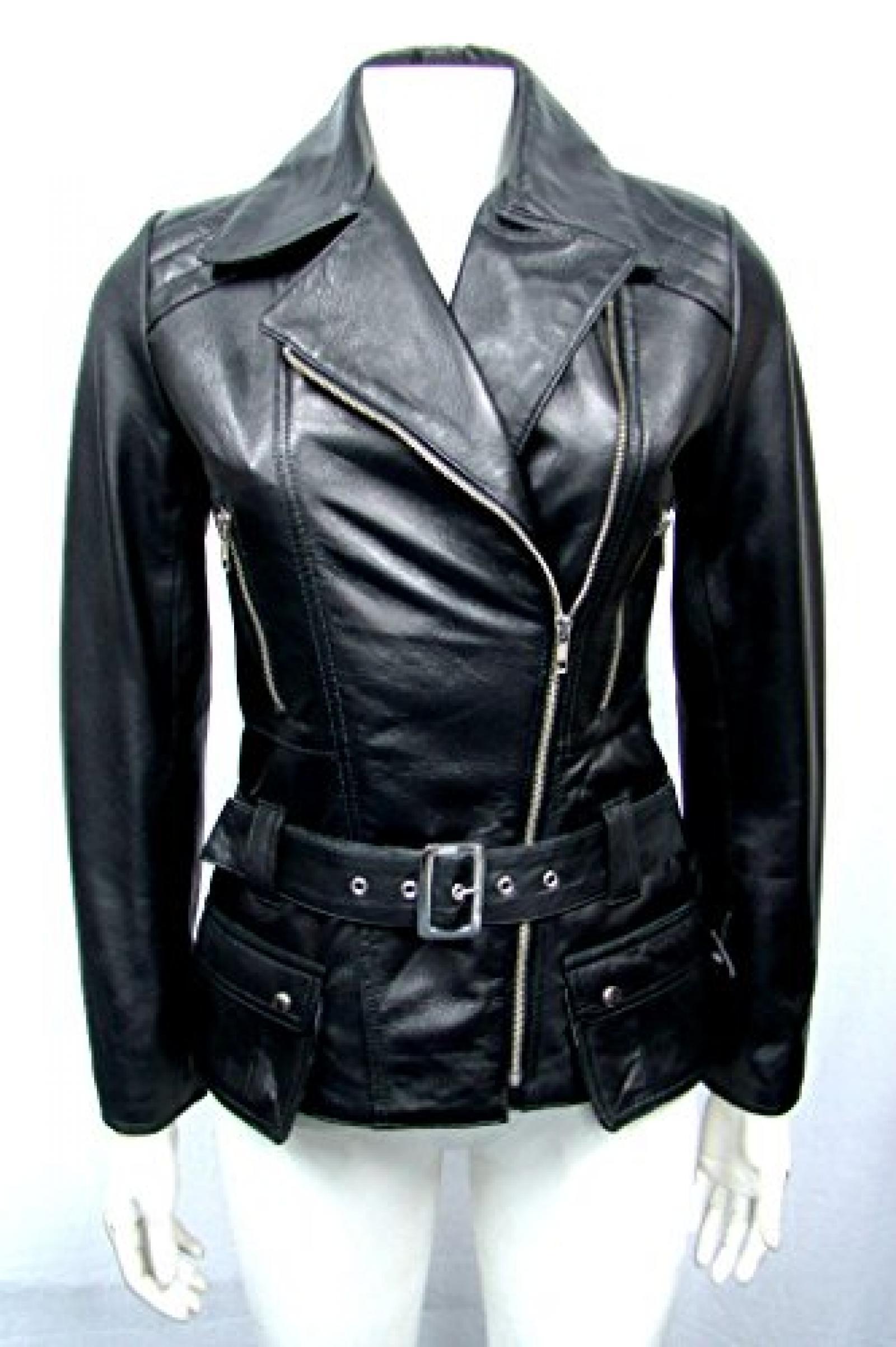 damen sehr verehrten Damen hip Länge Schwarz montiert aus weichem Lammfell echtes Leder Jacken