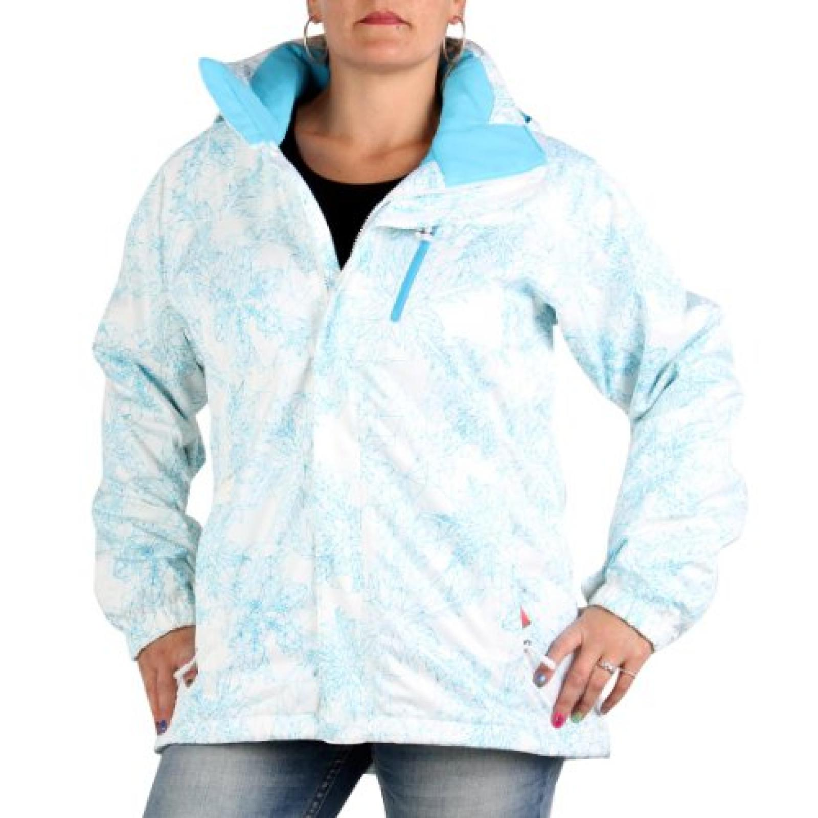 THE NORTH FACE Damen Funktions- Skijacke Snow Cougar Print White