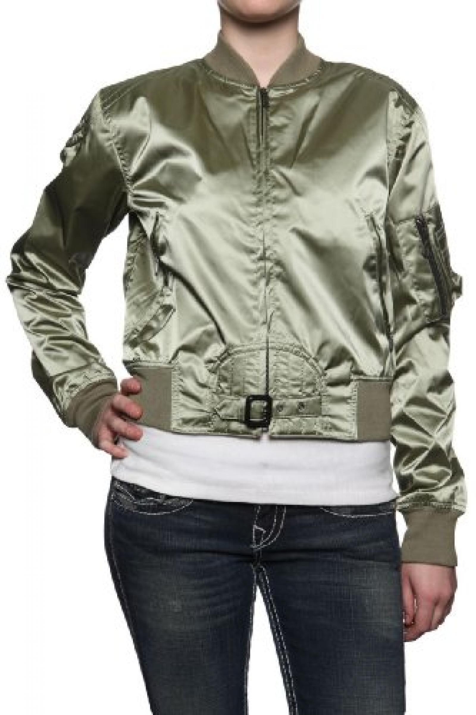 Belstaff Black Label Damen Jacke Blouson-Jacke SOLDIER, Farbe: Olivgruen