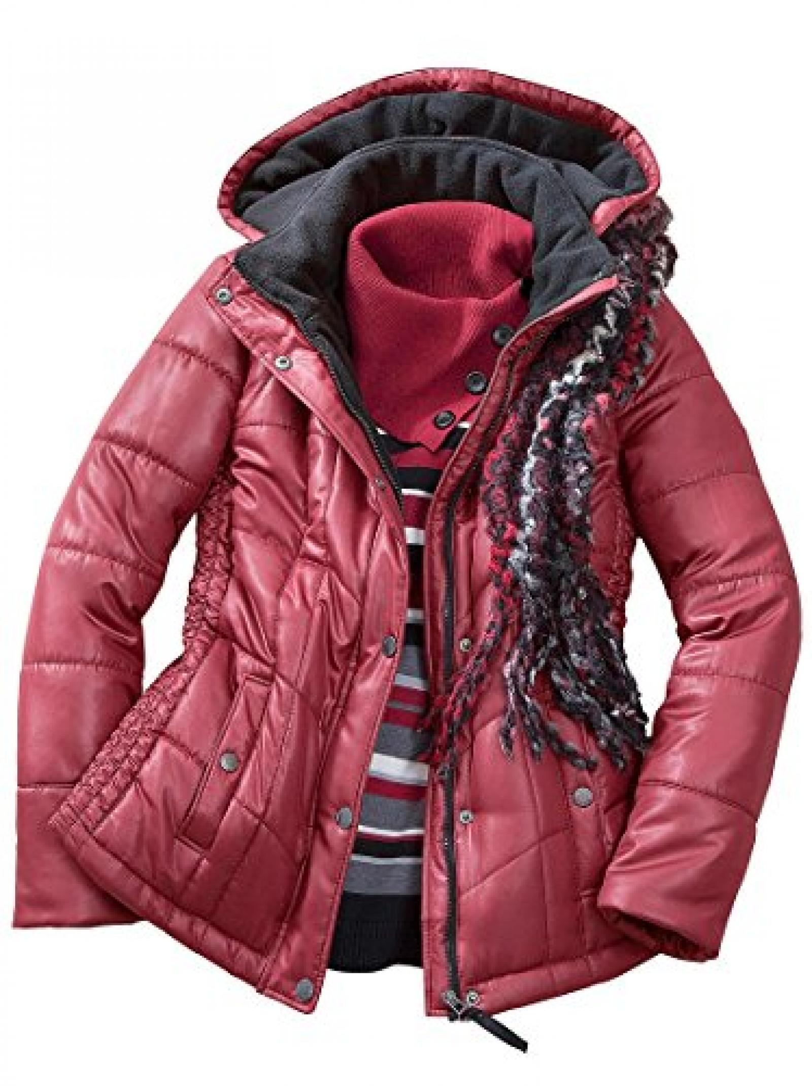 Collection L: Damen-Jacke - dunkelrot - 359306