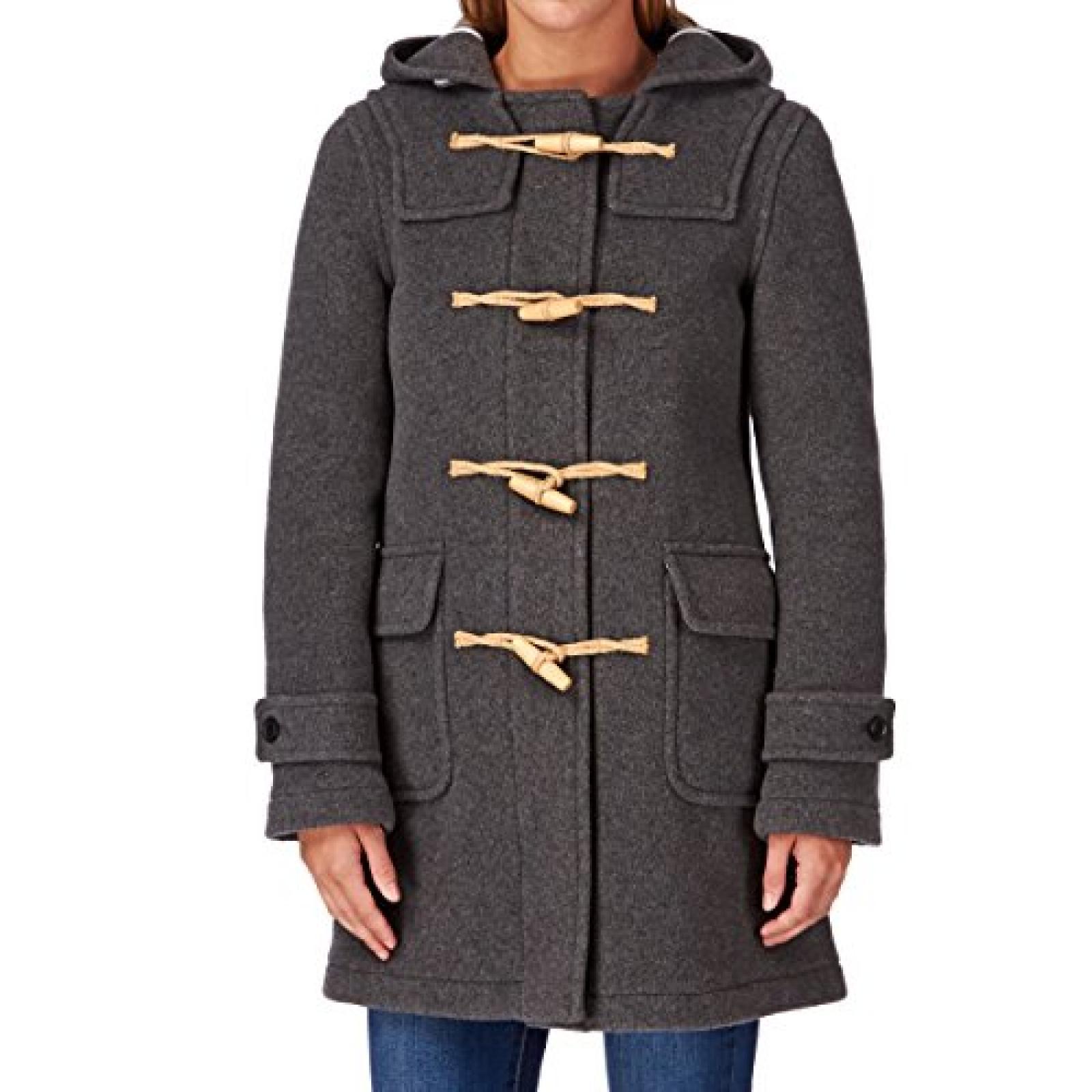 MENIL Cornwall Classic Duffle Jacket - Light Grey