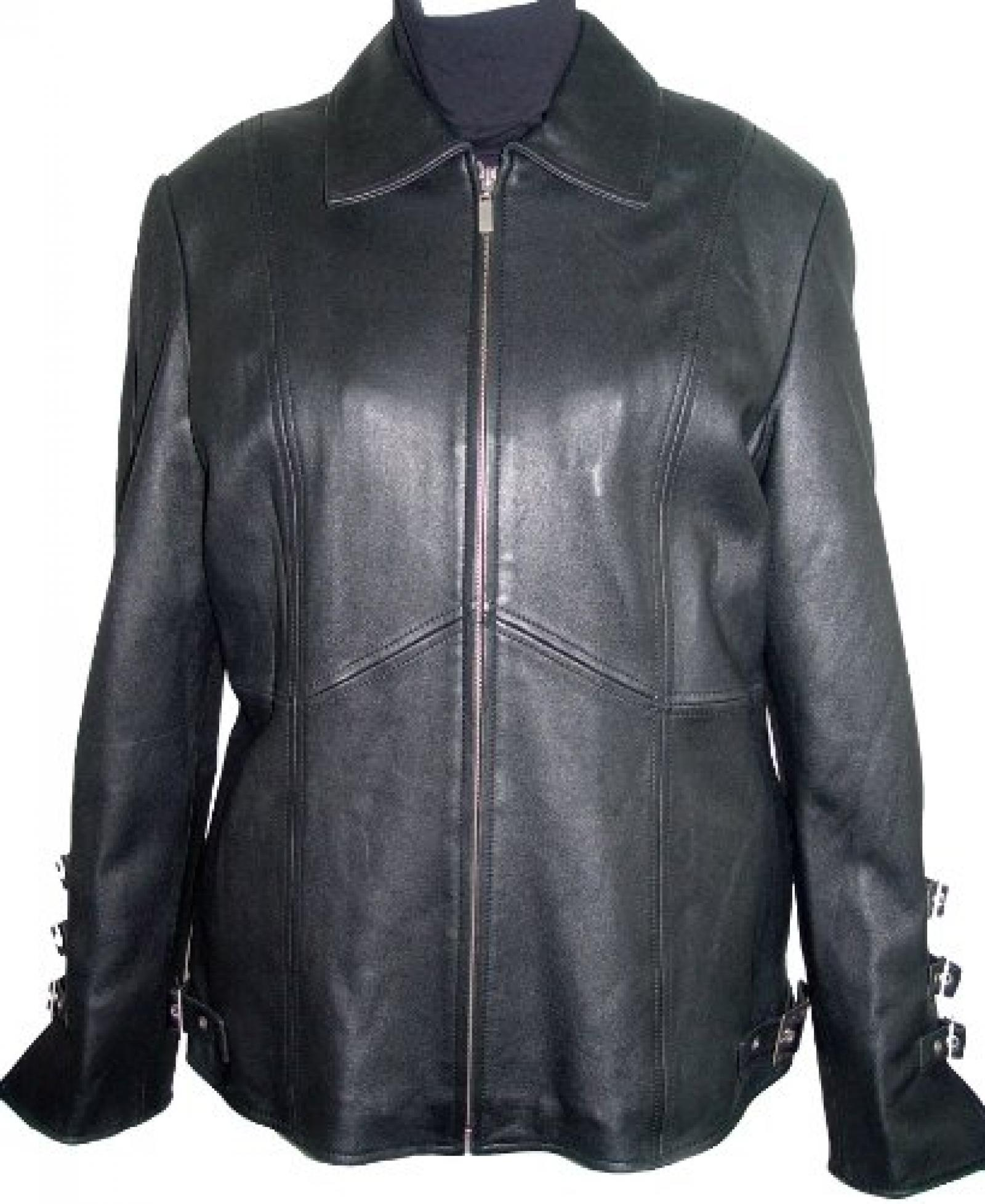Paccilo FREE tailoring Womens 4026 Plus Size Stadium Leather Jacket