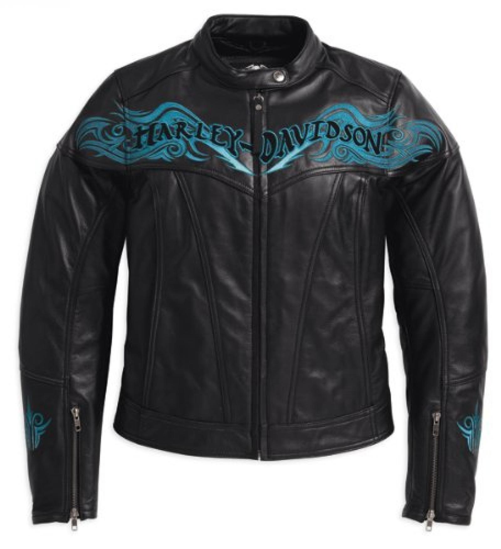 Harley-Davidson Women Blue Twilight -Lederjacke 97017-10VW Damen Outerwear