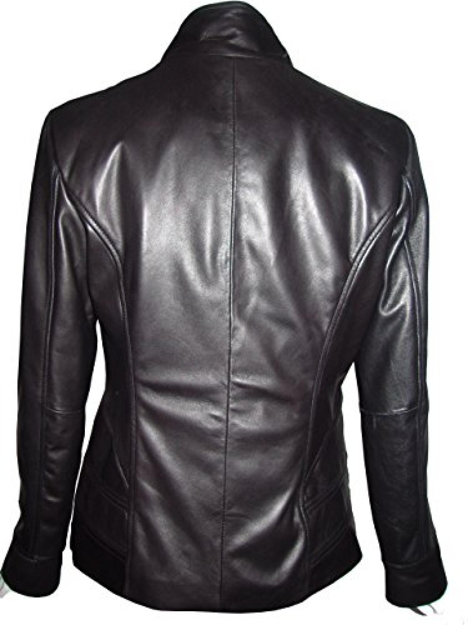 Nettailor Women PLUS SIZE 4194 Soft Leather Casual Jacket Flap Chest Pocket