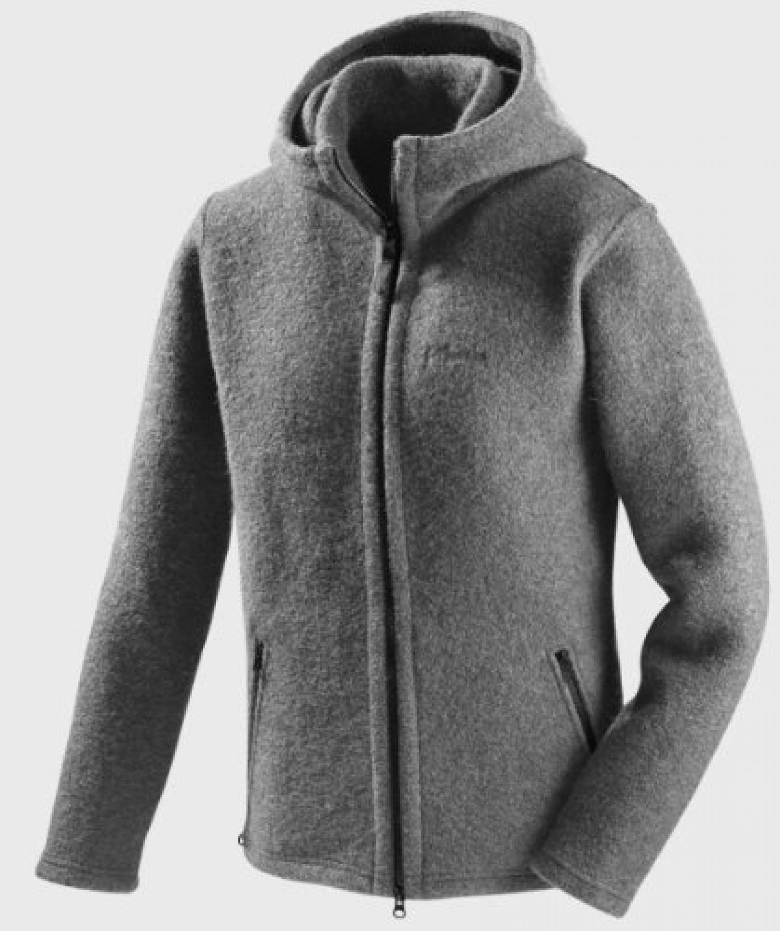 Mufflon Randy, Wolljacke, unisex, grey - grau