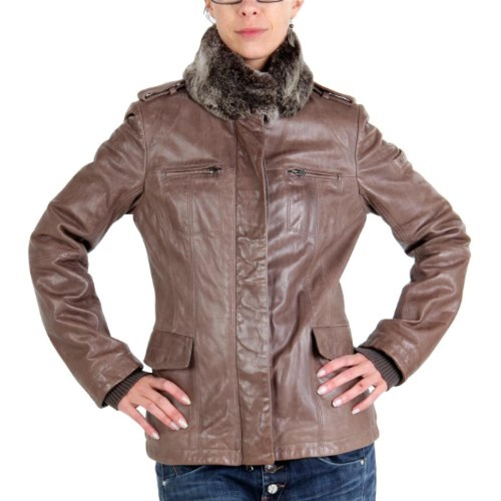 PEUTEREY Damen Winter Lederjacke Cindy Brown 2. Wahl